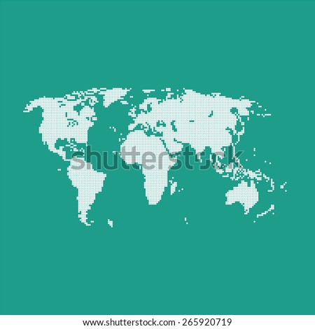 World map of the points - stock vector