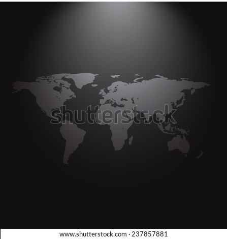 World map wallpaper dark modern room stock vector royalty free world map of wallpaper in a dark modern room gumiabroncs Choice Image