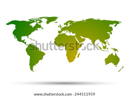World Map on a white background - stock vector
