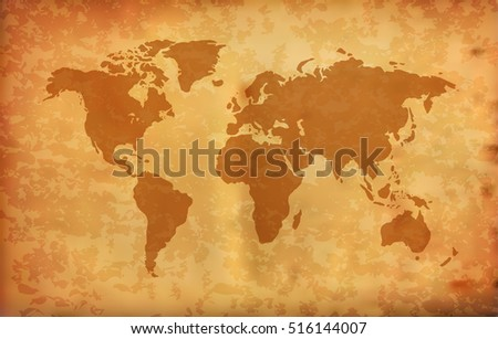 World map on grunge background vector vectores en stock 516144007 world map on grunge background vector gumiabroncs Gallery