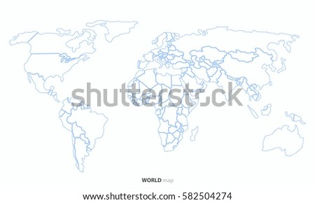 World map outline country graphic vector vectores en stock 582504274 world map outline country graphic vector gumiabroncs Choice Image