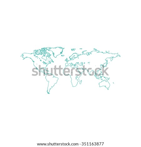 World map outline vector icon on stock vector hd royalty free world map outline vector icon on white line symbol pictogram gumiabroncs Image collections