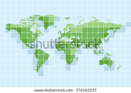 World map. Set 4. - stock vector
