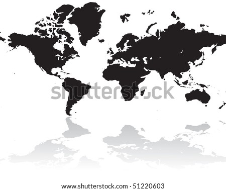World map silhouette isolated on white stock vector hd royalty free world map silhouette isolated on white background gumiabroncs Image collections