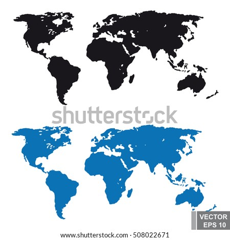 Eps vector illustration world map 3 stock vector 107076218 world map silhouette terrain earth for your design gumiabroncs