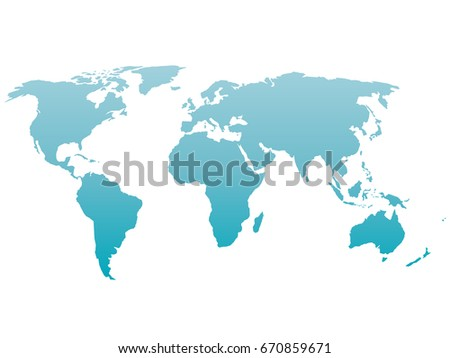 World map isolated on white blue vectores en stock 660106348 world map silhouette vector blue gradient isolated on white background gumiabroncs Images