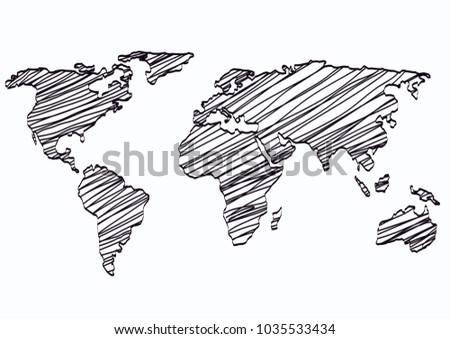 World map sketch outline draw graphic stock vector hd royalty free world map sketch outline draw graphic gumiabroncs Image collections