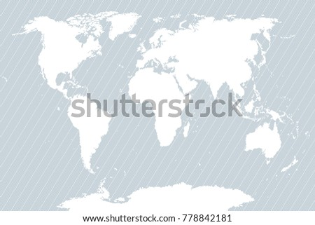 Accurate map world includes antarctica maps stock illustration world map striped background flat vector sciox Choice Image