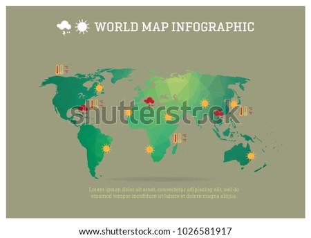 World map triangle polygon geometry infographic stock vector world map triangle polygon geometry infographic vector eps 10 gumiabroncs Gallery