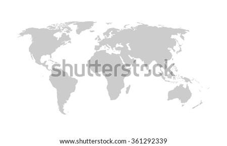 World map, vector. - stock vector