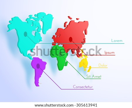 World map vector background. Eps10 - stock vector