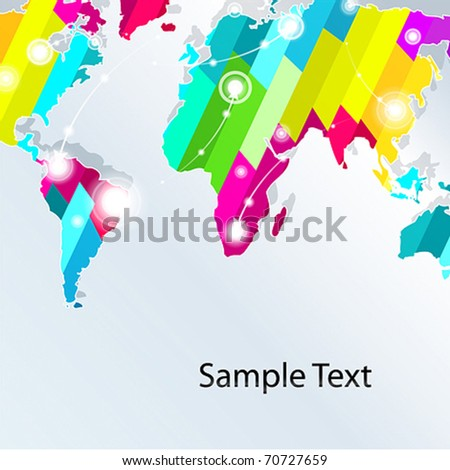 World map vector creative background. For business presentation. vector. - stock vector