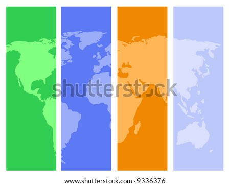 world map vector design. traced map: http://www.lib.utexas.edu/maps/world_maps/world_pol02.jpg copyright state.: http://www.lib.utexas.edu/maps/faq.html#3.html - stock vector