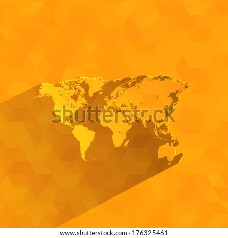 World map. Vector format - stock vector