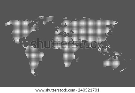 World map vector grey color map stock vector 240521701 shutterstock world map vector grey color map vector gumiabroncs Gallery