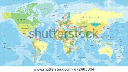 World map vector high detailed illustration stock vector 672483304 world map vector high detailed illustration of worldmap gumiabroncs Image collections