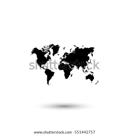 World map vector icon round shadow stock vector hd royalty free world map vector icon with round shadow gumiabroncs Choice Image