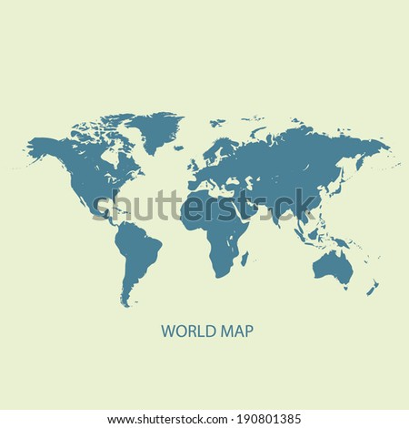 WORLD MAP VECTOR ILLUSTRATION - stock vector