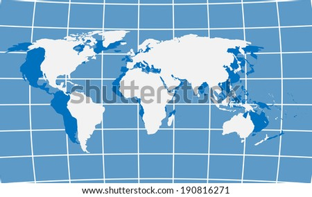 World Map. Vector Illustration.