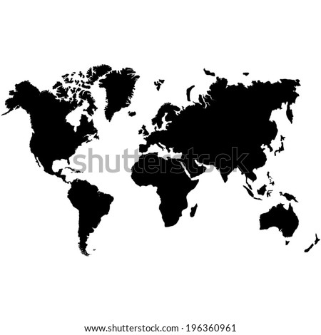 World map - vector illustration - stock vector