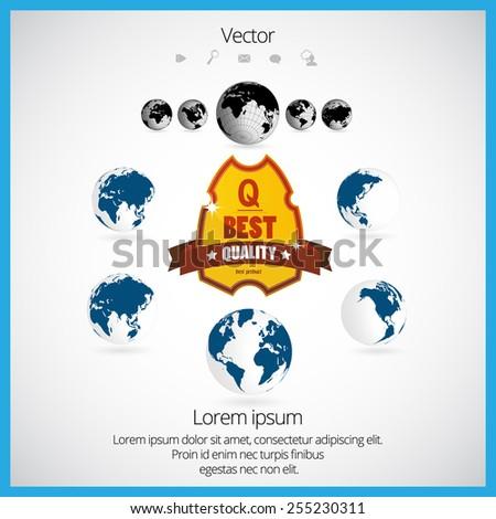 World map, vector illustration  - stock vector