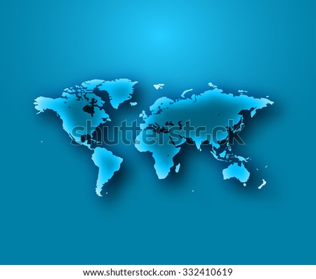 World Map vector illustration.