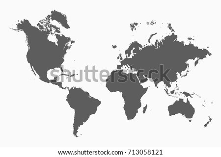 World map vector illustration vector de stock713058121 shutterstock world map vector illustration gumiabroncs Images