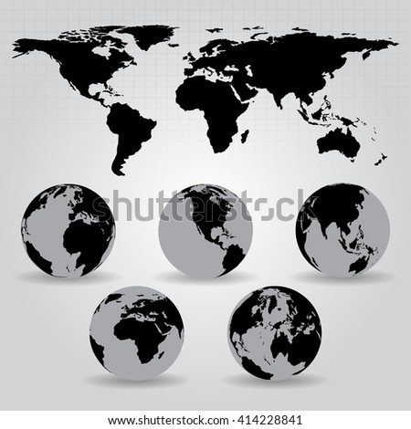 World map vector illustration. Elements of this image furnished by NASA