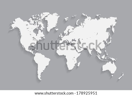 World map vector illustration. on the gray background. eps10 - stock vector