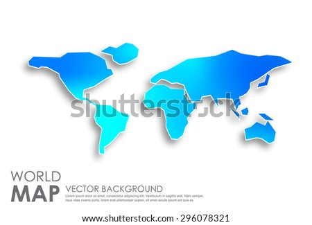World Map, Vector illustration,Vector world map background with colorful and flat design style, clean and modern