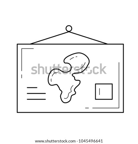 World map vector line icon isolated stock vector 1045496641 world map vector line icon isolated on white background school world map hanging on the gumiabroncs Images