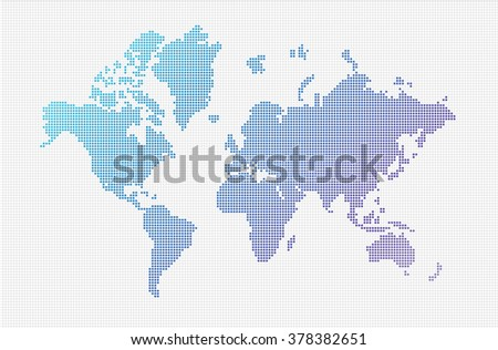 World Map Vector ((small dots objects)
