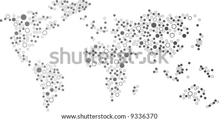 world map vector.traced map: http://www.lib.utexas.edu/maps/world_maps/world_pol02.jpg copyright state.: http://www.lib.utexas.edu/maps/faq.html#3.html - stock vector