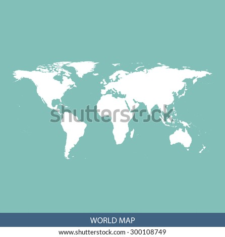 World map vector, World map outlines for science, brochure, tourist map, and other publication uses - stock vector