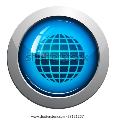 world map, web vector glossy icon