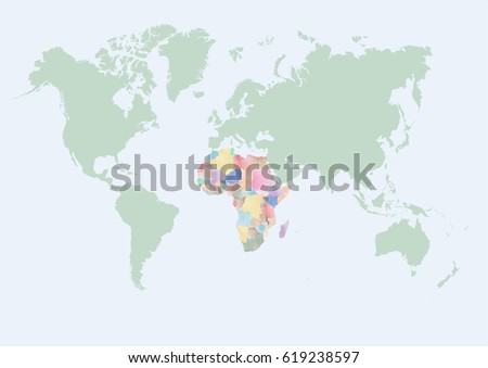 World map africa countries stock vector 619238597 shutterstock world map with africa countries gumiabroncs Gallery