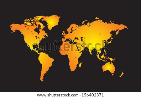 World map with all countries, and set of earth globes, detailed vector - stock vector