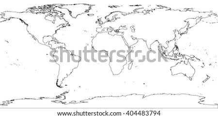 World map antarctica stock photo photo vector illustration world map with antarctica gumiabroncs Image collections