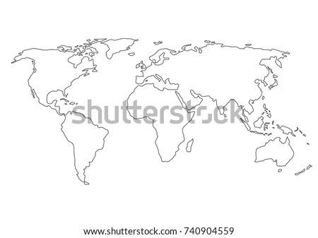 World Map Outline Stock Images RoyaltyFree Images Vectors - Blank world map with country borders