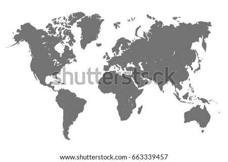 World map division countries vector vector de stock663339457 world map with division of countries vector gumiabroncs