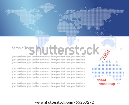 World map with dots - stock vector