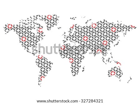 World map geometric pattern easy change vectores en stock 327284321 world map with geometric pattern easy to change color gumiabroncs Image collections