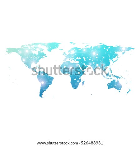 World map global technology networking concept stock vector world map with global technology networking concept digital data visualization lines plexus big gumiabroncs Gallery