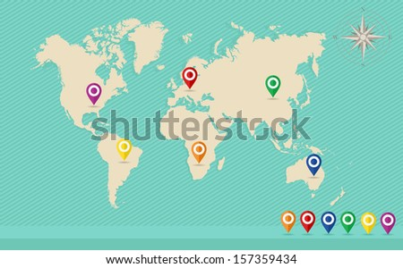 World map gps location pins travel stock vector hd royalty free world map gps location pins travel stock vector hd royalty free 157359434 shutterstock gumiabroncs Image collections