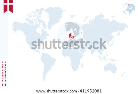 World map magnifying on denmark blue stock vector 411952081 world map with magnifying on denmark blue earth globe with denmark flag pin zoom gumiabroncs Gallery