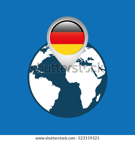 World Map Pointer Flag Germany Vector Stock Vector - Germany map eps