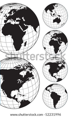 World maps - stock vector