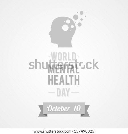 World Mental Health Day - stock vector