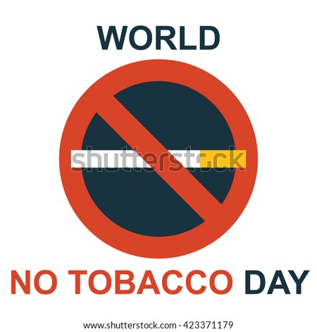 World no tobacco day flat design vector illustration 31 May