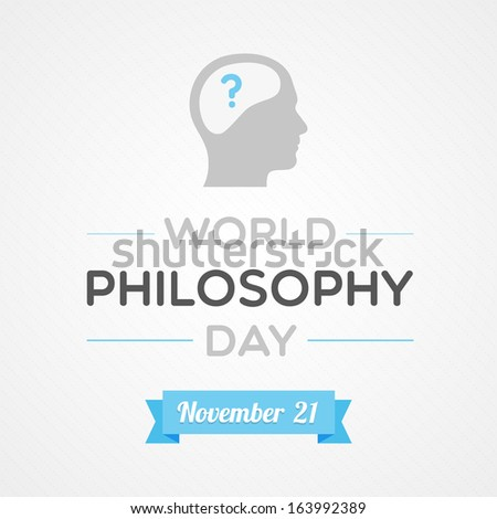 World Philosophy Day - stock vector